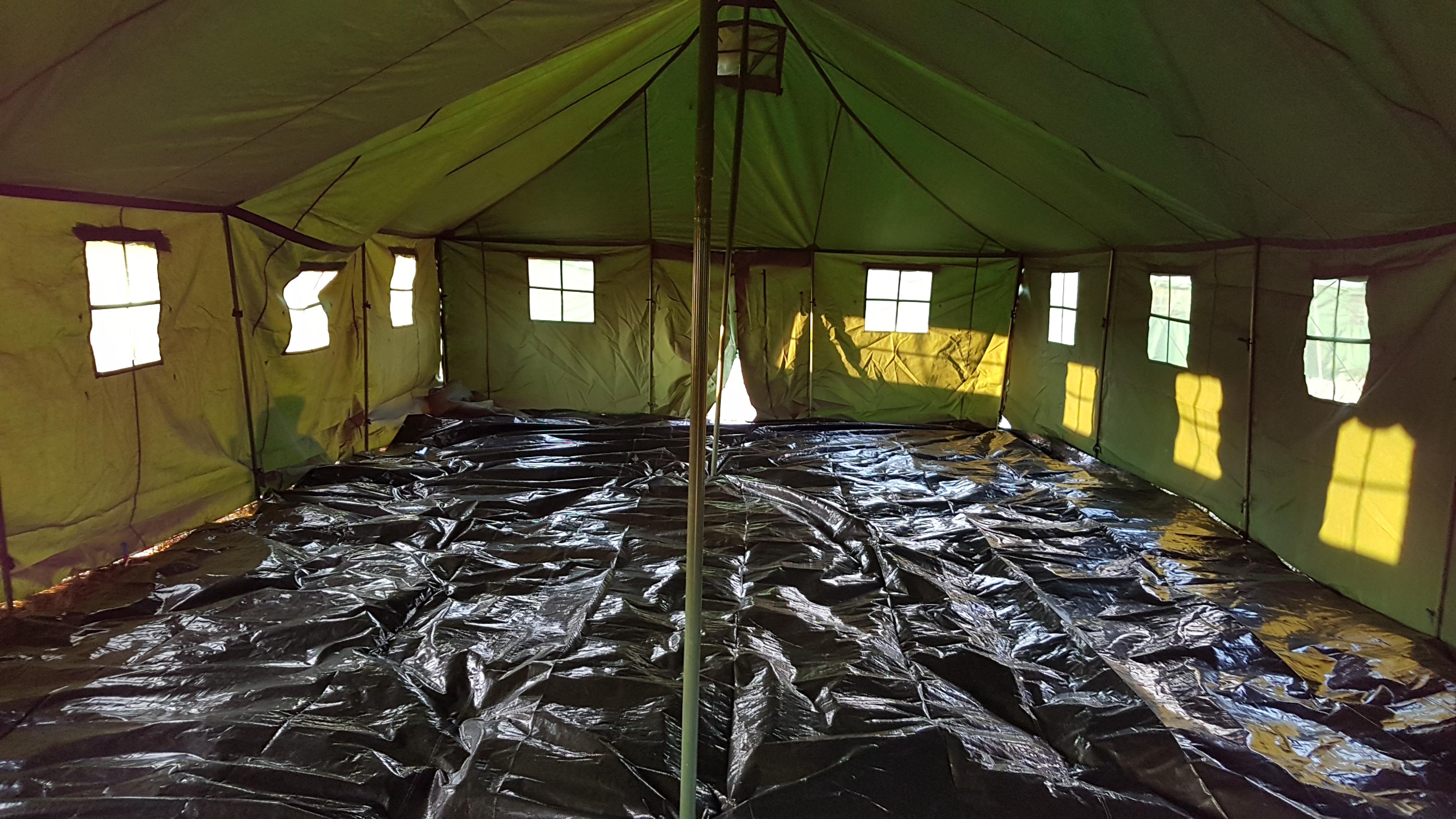 kamin till 12 manna tält